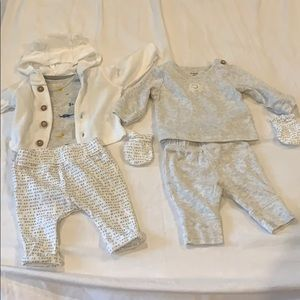 Carters set for newborns night/day